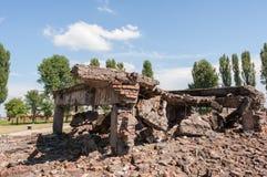 Birkenau Concentration Camp Ruins. Ruins of Bireknau Conceptration Camp, Poland stock images