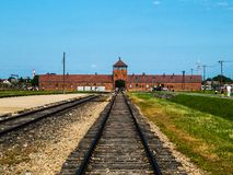 Birkenau concentration camp Royalty Free Stock Image