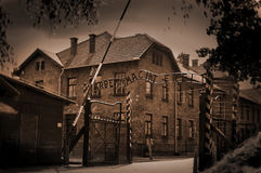 Birkenau de Auschwitz fotografia de stock