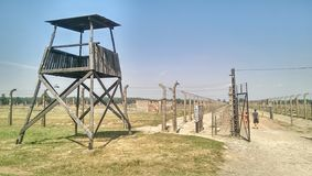 Birkenau de Auschwitz Fotografia de Stock Royalty Free