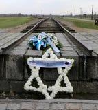 Birkenau de Auschwitz imagens de stock