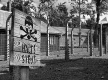 Birkenau di Auschwitz Immagini Stock
