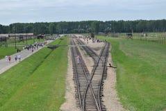 Birkenau, groot concentratiekamp in Polen Royalty-vrije Stock Afbeeldingen