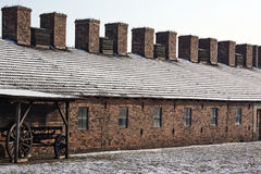 Birkenau Nazi Concentration Camp - Poland Royalty Free Stock Images