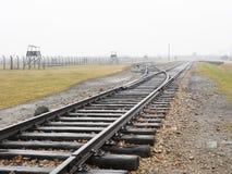 Birkenau rail Royalty Free Stock Photo