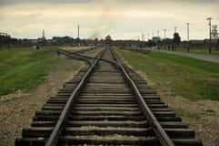 Birkenau rails Stock Image