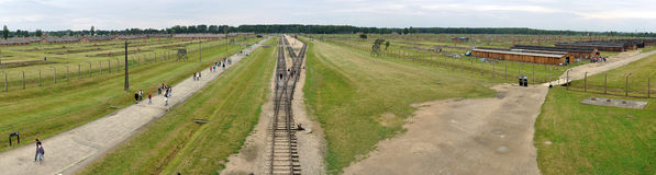 Birkenau railway Royalty Free Stock Photo