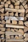 Birkenbrennholz stockfoto