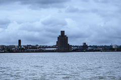 Birkenhead from the Albert Dock in Liverpool in Merseyside in England Royalty Free Stock Photography