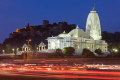 Birla Mandir, Jaipur. Birla Mandir (Laxmi Narayan) is a Hindu temple in Jaipur, India stock photos