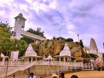 Birla tempelsikt från det Hyderabad loppet Hyderabad, Indien fotografering för bildbyråer