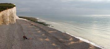 BIRLING GAP, ÖSTLIG SUSSEX/UK - NOVEMBER 2: Sikt från Birling av Gap Arkivfoto