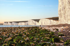 Birling Gap beach and Seven sisters white cliffs Stock Image