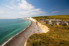Birling Gap cottages. Royalty Free Stock Images