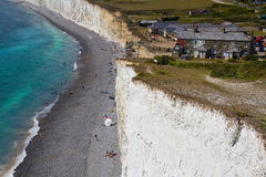 Birling Gap cottages. Royalty Free Stock Image