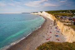 Birling Gap cottages. Royalty Free Stock Photos