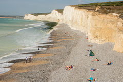 Birling Gap in East Sussex, England Royalty Free Stock Photos
