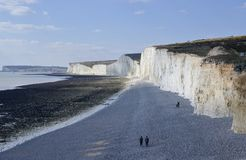 Birling Gap, East Sussex, UK zdjęcia royalty free