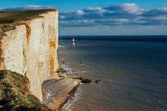 Birling Gap Lighthouse Royalty Free Stock Photography