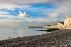 BIRLING GAP, SUSSEX/UK - NOVEMBER 2 : Man in contemplation whils Royalty Free Stock Image