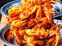Birmańczyków głębocy smażący kraby 2 Fotografia Royalty Free