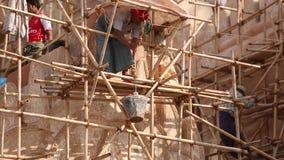 Birmańscy ludzie w budowie zbiory