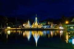 Birmański Architektoniczny styl Wat Chong Klang i Wat Chong Kha zdjęcie stock