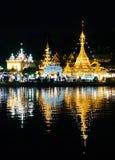 Birmański Architektoniczny styl Wat Chong Klang i Wat Chong Kha obraz royalty free