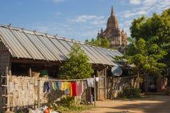 Birma bagan tamples Мьянмы светлое Стоковые Изображения RF