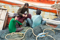 Birmańscy rybacy Obrazy Stock