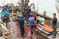 Birmańscy rybacy Zdjęcia Royalty Free