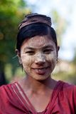 Birmańska kobieta Zdjęcia Royalty Free