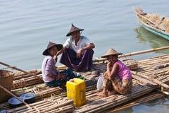 Birmańskie kobiety, Myanmar Obrazy Stock