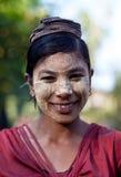 Birmaans meisje royalty-vrije stock afbeelding