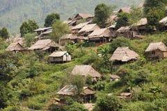 Birmaans vluchtelingskamp stock afbeeldingen