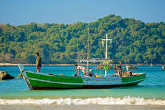 Birmaanse boot royalty-vrije stock fotografie