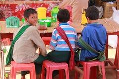 Birmaanse kinderen Royalty-vrije Stock Afbeelding