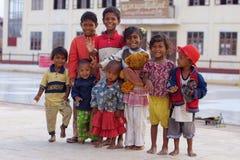 Birmaanse kinderen op Inle-meer in Birma royalty-vrije stock foto's