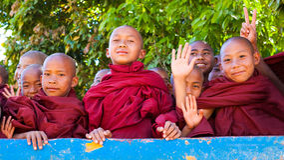 Birmaanse Monniken Royalty-vrije Stock Foto