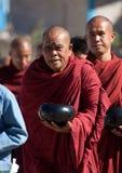 Birmaanse Monniken Royalty-vrije Stock Foto's