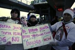Birmaanse protesteerders Royalty-vrije Stock Afbeelding