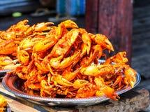Birmane frittierte Krabben 1 Lizenzfreie Stockfotografie