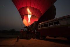 Birmania热空气气球 免版税库存图片