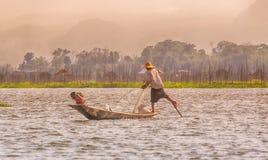 Birmania Inle jezioro Obrazy Royalty Free