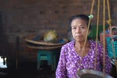 Birmanische Frauen stockfotografie