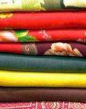 Birmanische gesponnene Decken Lizenzfreies Stockfoto