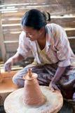 Birmanische Handwerkerin Lizenzfreies Stockbild