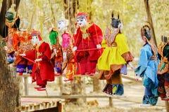 Birmanische traditionelle Marionetten in Bagan, Myanmar Lizenzfreie Stockfotografie