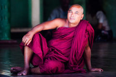 Birmanischer Mönch Lizenzfreie Stockfotografie