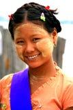 Birmanisches Mädchen, Myanmar Stockbild